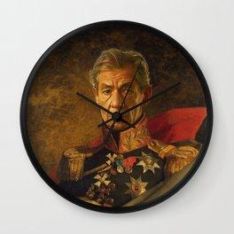Sir Ian McKellen - replaceface Wall Clock