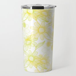 Yellow Camomiles Travel Mug