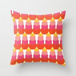 Retro Pattern VI Throw Pillow