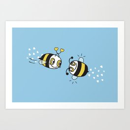 Love bees  Art Print
