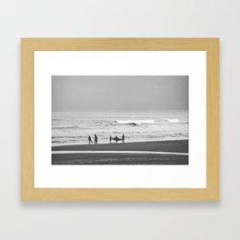Before surfing Framed Art Print