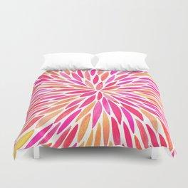 Watercolor Burst – Pink Ombré Duvet Cover