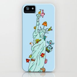 The Birds Liberty Statue iPhone Case