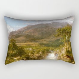 Frederic Edwin Church - The Heart of the Andes - Hudson River School Oil Painting Rectangular Pillow