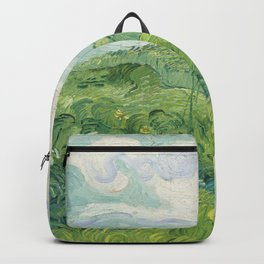 Vincent van Gogh Green Wheat Fields, Auvers 1890 Painting Backpack