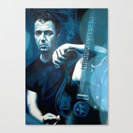 Joe Strummer of The Clash Canvas Print