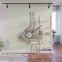 Banjo Llama Wall Mural