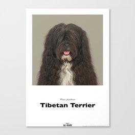 Project 100 Dogs JarJar the Tibetan Terrier Canvas Print