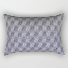 Owl Pattern Purple & Grey Rectangular Pillow