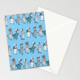 RETRO NURSERY SCHOOL Baby Blue Stationery Cards