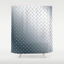 Diamond Plate Metal Pattern Shower Curtain