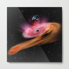 TARDIS BLACK HOLE Metal Print