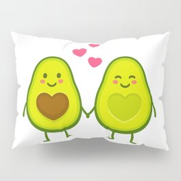 Cute avocados in love Pillow Sham