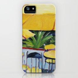 Yellow Umbrellas iPhone Case