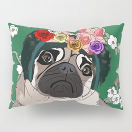Frida-Pug Pillow Sham