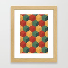 Retro Cubic Framed Art Print