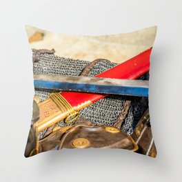 Roman Sword, Armor Throw Pillow