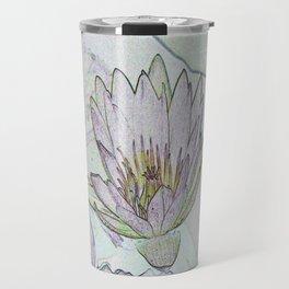 Waterlily Abstract Travel Mug