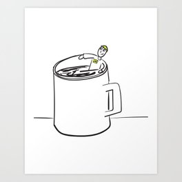 Cup of Joe Idiom Art Print