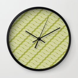 shortwave waves geometric pattern Wall Clock