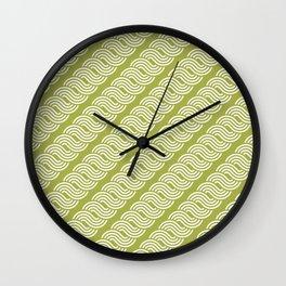 shortwave waves geometric pattern Wall Clock
