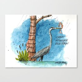 Mississippi Great Blue Heron Canvas Print