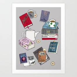 Horror stories and tea Art Print