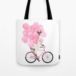 Riding Llama with Pink Balloons #1 Tote Bag