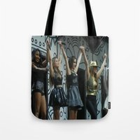 fifth harmony Tote Bags featuring Fifth Harmony by Halle
