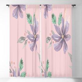 Floral Pattern Prints art  Blackout Curtain