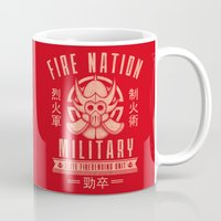 airbender Mugs featuring Fire is Fierce by adho1982