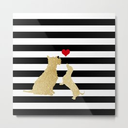 Schnauzer Dog and Dachshund Dog Metal Print
