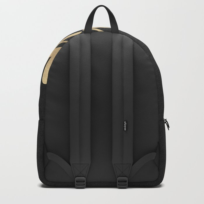 Do Your Work Gold on Black Fabric Backpack