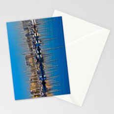 Boats in the Harbor: Barcelona, Spain Stationery Cards