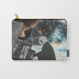 Man playing the piano in space Carry-All Pouch