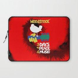 Woodstock 1969 (tie dye background) Laptop Sleeve