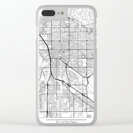 Tucson Map White Clear iPhone Case