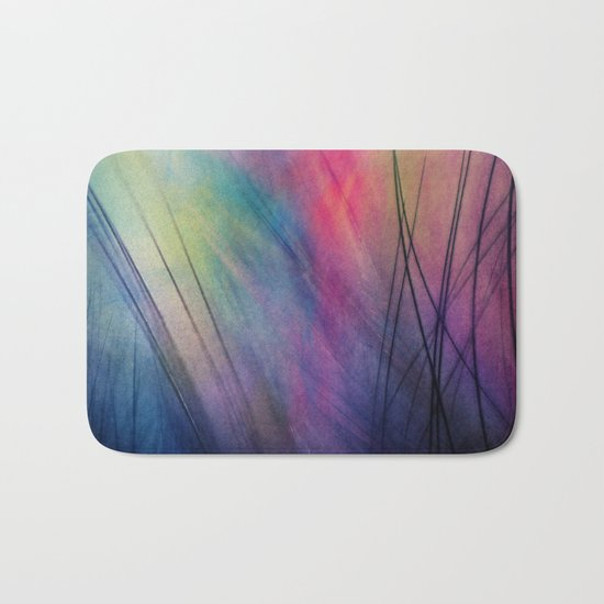 Tropical Feather Abstract Bath Mat