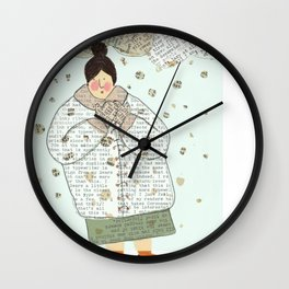 Dressed in words Wall Clock