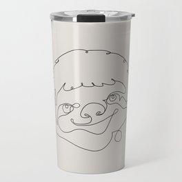 One Line Sloth Travel Mug