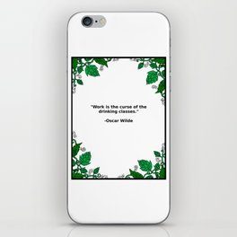 Brews & Hues: a Quote from Oscar Wilde (Portrait) iPhone Skin