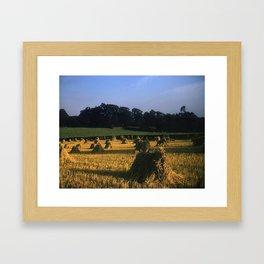 English countryside * 1950's * Vintage Photo * Farm * Kodachrome * Color * England Framed Art Print