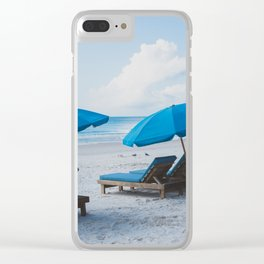 Mornings at the Beach II Clear iPhone Case