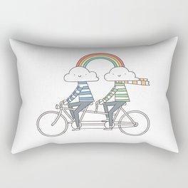 Love makes life a beautiful ride Rectangular Pillow