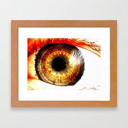 Fractal Eye Framed Art Print