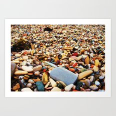 Pebbles Beach Art Print