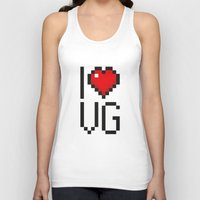 video games Tank Tops featuring PAUSE – I Love Video Games by PAUSE