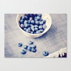 Fresh Blueberries Kitchen Art Canvas Print