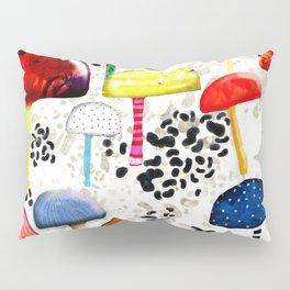 Mein Ein, mein Alles - Mushrooms Abstract Botanical Art - cute animal print - Leopard Muster Pillow Sham