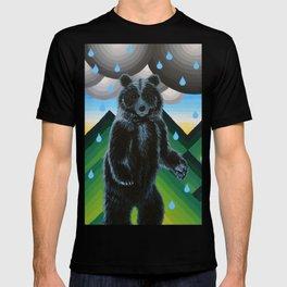 Geometric Black Bear T-shirt